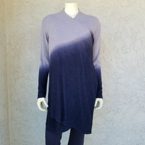 Barefoot Dreams Blue Ombre Calypso Wrap Cardigan